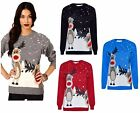 Ladies Long Sleeve Christmas Xmas Unisex Sweater Retro Novelty Vinatage Jumper F