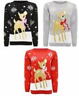 Ladies Long Sleeves Christmas Unisex Sweater Retro New Novelty Vinatage Jumper F