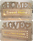Wooden Light Up Lit LED Xmas Christmas Home Love Sign Plaque Gift Decoration