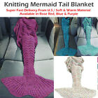 Adult Mermaid Tail Blanket Crocheted Knitted Mermaid Bed Sofa Blanket 200*90cm   image