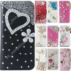 Rhinestone Case Flip Cover Crystal Diamond Case Wallet Leather Cover For Doogee