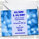 Blue Lights Engagement Party Invitations