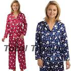 Ladies Satin Silky Pyjamas Set Luxury Soft Long Sleeve Pjs Lounge wear  mn120