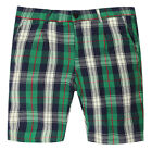 Gant Rugger Herren Shorts Grün/Blau R.1. Pleated Oxford 1201-021362-323