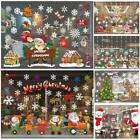 Santa Claus Merry Christmas Window Wall Sticker Removable Xmas Wall Decoration B