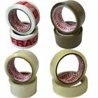 48mm & 24mm BIG STRONG ROLLS Brown Clear Fragile Packing Tape Parcel Sealing
