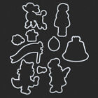 Dancing Women Silicone Clear Stamp&Metal Cutting Dies For Scrapbooking Album DIY