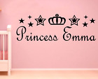 Personalised Name Princess Wall Art Sticker Quote Decal Girls Bedroom Decor