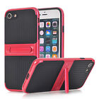 Kickstand Rugged Dual Layer Soft Silicone Skin Back Protector PC Case Cover