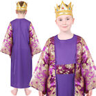 CHILDS KIDS WISE MAN COSTUME NATIVITY KING FANCY DRESS KIDS SCHOOL PLAY MELCHIOR