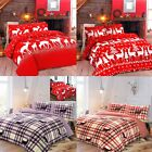 Christmas Tree Reindeer Snowman Xmas Stag Quilt Cover Duvet Cover Bedding Set
