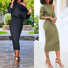 Sexy Women Casual Bodycon One Shoulder Evening Party Cocktail Short Mini Dress