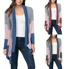 Top Womens Winter Casual Long Sleeve Blouse Cardigan Coat Jacket Knitted US Size