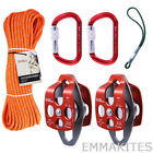 GM CLIMBING Pulley System with Prusik Loop for Tree Climbing Tree Surgeons Work