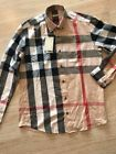 Burberry Brit Check Men's Casual Dress Shirt Size S-2XL FREE SHIPPING NEW