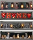 Light Up Draught Excluder Draft Insulator Door Window Snake Christmas LED Hearts
