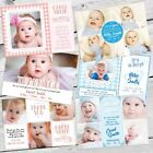 Personalised Photo THANK YOU Cards Flat Postcard Baby Child Boy Girl