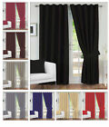 THERMAL BLACKOUT CURTAINS READY MADE PENCIL PLEAT PAIR FULLY LINED TIE BACKS
