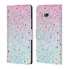 HEAD CASE DESIGNS CONFETTI LEATHER BOOK WALLET CASE COVER FOR HTC PHONES 1