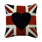 Union Jack British Flag Chenille Cushion Covers Fashion Pillow Case 18