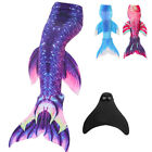 Women Kids Girls Mermaid Tail Swimmable Swimear Swimming Mono Fin Flippers Party