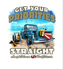 Amphibious Outfitters T-Shirt - Get Your Priorities - White - Scuba - D0211W
