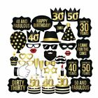 Внешний вид - New 26PCS DIY 30th 40th 50th Birthday Party Masks Favor Photo Booth Props