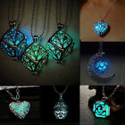 Sale Magic Luminous Punk Beauty Heart Glow Dark Woman Pendant Necklace