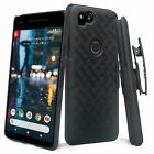 For Google Pixel 2 XL Holster Belt Clip Combo Case Cover Protector