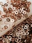 Sequins Tiny Light Rose Pink Gold Metallic 3mm Flat Round Choose Pack Size