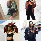 Sale Women Lady Winter Outwear Zipper Jacket Biker Coat Padded Bomber