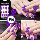 Lady Artificial Full Nails Tips Fake Matte French Manicure Nail Art Fashion BB