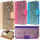 For LG K10 Premium Bling Diamond Wallet Case Flip Pouch Cover +Screen Protector