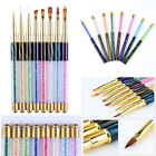 Nail UV Gel Liner Painting Gradient Brush Pen Rhinestone Manicure Tools Unisex