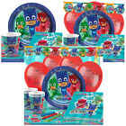 PJ Masks Kids Birthday Party Pack Tableware Kits - For 8 or 16 Guests