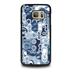 COACH NEW YORK BLUE Samsung Galaxy S3 S4 S5 S6 S7 Edge S8 S9 Plus Case Cover