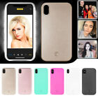Selfie LED Disclose Up Luminous Phone Back Case Cover For Apple iPhone X iPhone 10