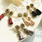 Rhinestone Long Tassel Dangle Earrings for Women Thread Fringe Drop Earrings xxf