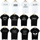 Funny Tumblr Letter Women Men's T-Shirts Slogan Aesthetic Crew Tee Tops Gifts