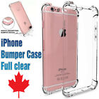 Bumper case for iphone 5 SE / iphone 6 / iphone 7  iphone 8 / Plus / X Clear TPU <br/> Iphone X and all other models! Trusted Canadian Seller