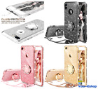 Phone Case Bling Rhinestone Glitter Luxury With Ring Stand For Apple iPhone X 10