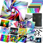 4in1 Colorful Design Painted Hard Rubberized Case Cover For New Macbook Pro Air