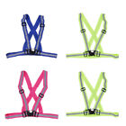 3 Color High-Vis Neon Safety Vest Reflective Belt Band for Night Running Cycling