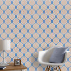 Beige, Blue & Silver, Paste the Wall, Designer, Blown Vinyl Wallpaper