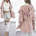 2017 Neu Women Long Sleeve Loose Cardigan Hooded Tops Trench Duster Coat Jacket