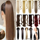Wrap Around Ponytail Real New Clip In Hair Extensions 100% Human Thick Long FT6