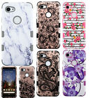 For LG Rebel 2 4G LTE Brushed Hybrid Card Case Phone Cover +Screen Protector