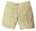 Gant Rugger Herren Shorts Gelb/Blau/Weiss R.1. Madras Patchwork Shorts 21831-736