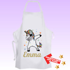 Personalised UNICORN DAB Cooking Baking Apron Kids Adults Christmas Gift - DE2