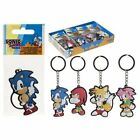 Licensed Sonic the Hedgehog Keyrings Tails, Amy Rose, Knuckles Keyring Official